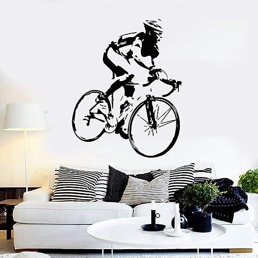 supmsds Pegatinas de Bicicleta Vinilo Tatuajes de Pared Ciclista ...