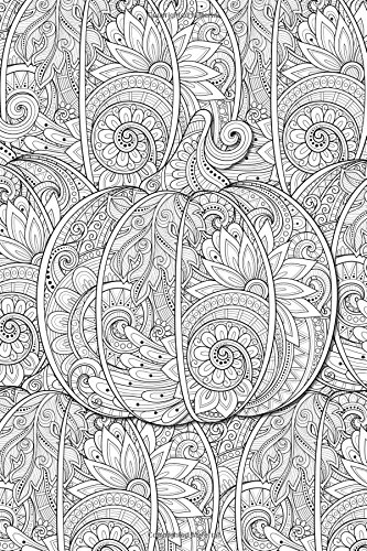 Color My Cover Halloween Journal - Pumpkin Pattern: 100 page 6