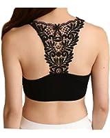 Bare Threads Women's Blended Padded Readymade Blouse (Bra-0011-Black, Black, Free Size)