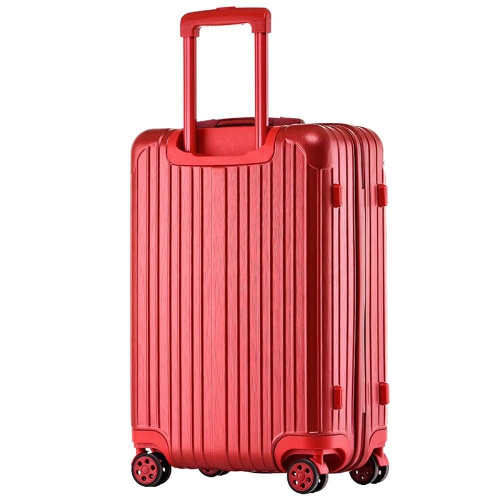 男性と女性のためのトロリーケースジッパースーツケースユニバーサルホイールビジネス搭乗(20/24/26/29インチ) (Color : 赤, Size : 29 inch)   B07RH74XT2