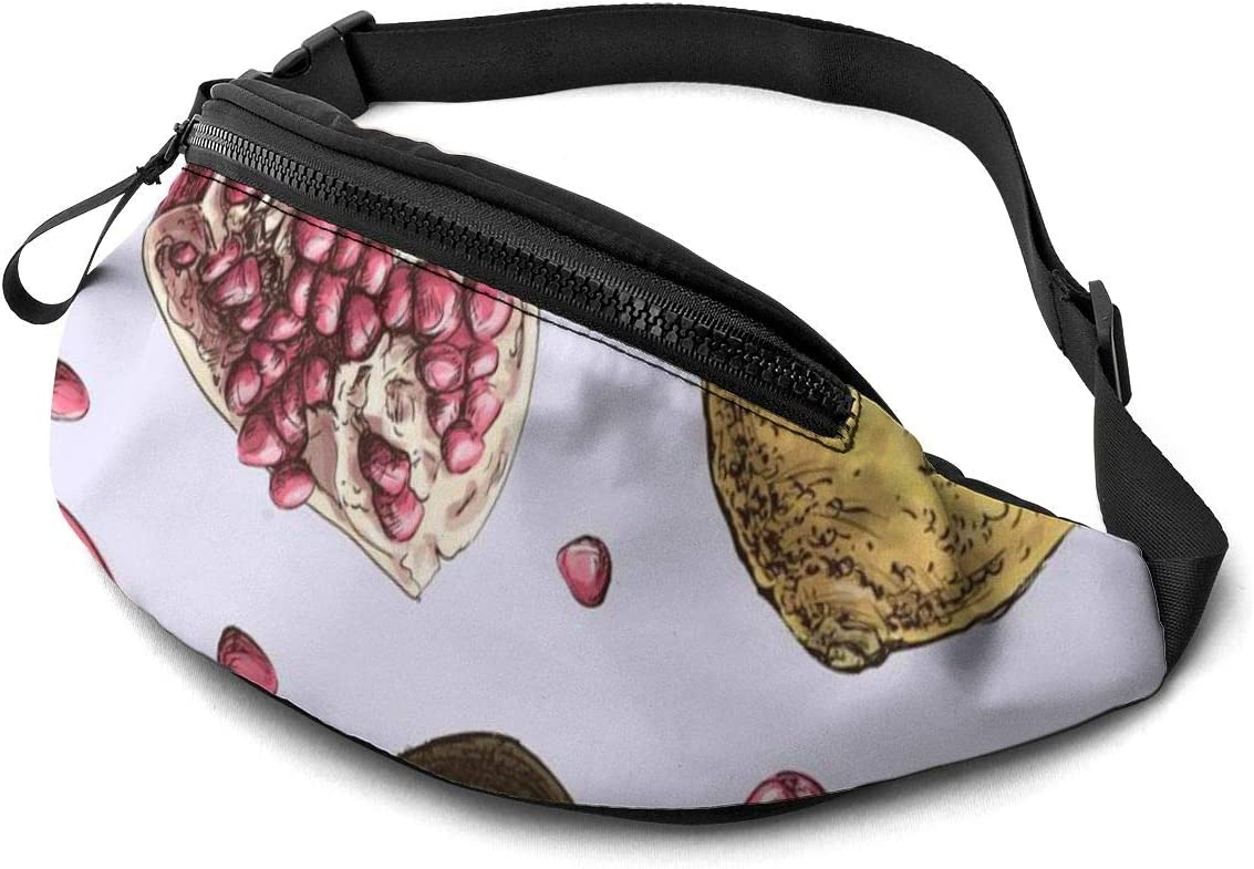 Riñonera unisex con diseño de frutas de granada, con cinturón ...