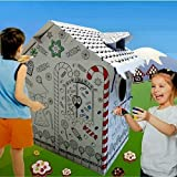 New Large Colour Your Own Gingerbread House Childrens Playhouse Kids Cardboard Wendy Tent Art