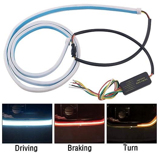 Epilun - Luz trasera LED para maletero, 120 cm, 12 V, impermeable ...