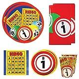 Bingo Deluxe Party Packs (70 Pieces for 16 Guests!), Bingo Party Supplies, Bingo Fundraiser, Tableware