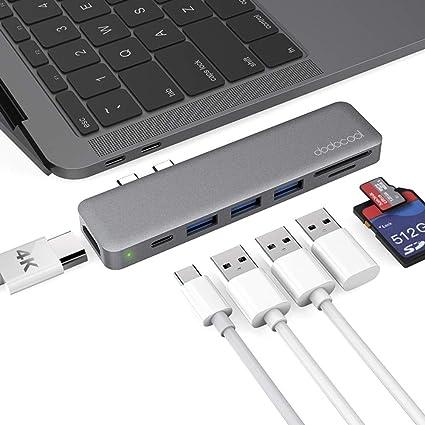 dodocool 7-en-1 Hub USB C para MacBook Pro 2018/2019/MacBook Air ...