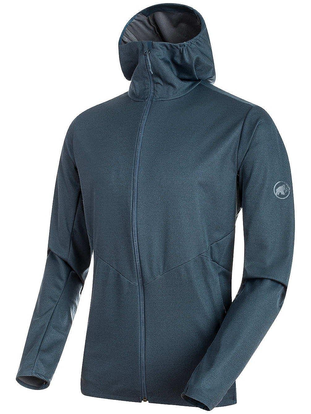 1011-00040-50013-116 Mammut Mens Ultimate V Tour SO Hooded Jacket Jay Melange Extra Large
