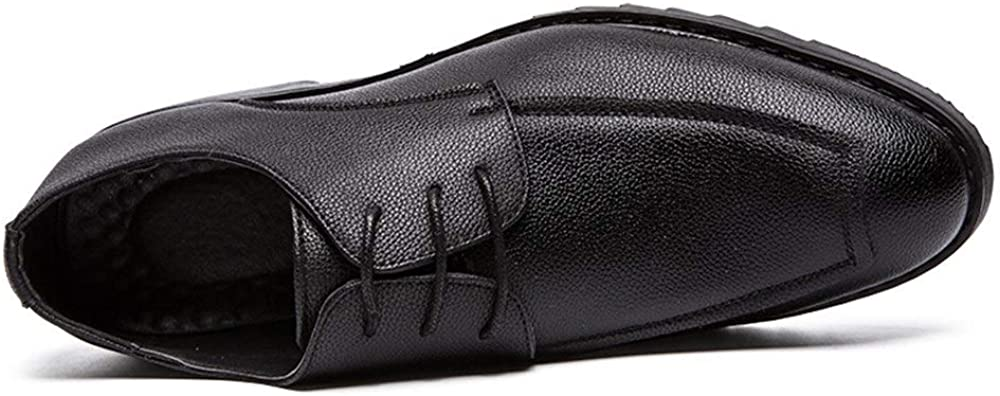 Color : Black, Size : 9 M US Weback Oxford Shoes for Men Formal Shoes Lace Up Style Microfiber Leather Leisure Business Pure Colors Fashion Mens Shoes