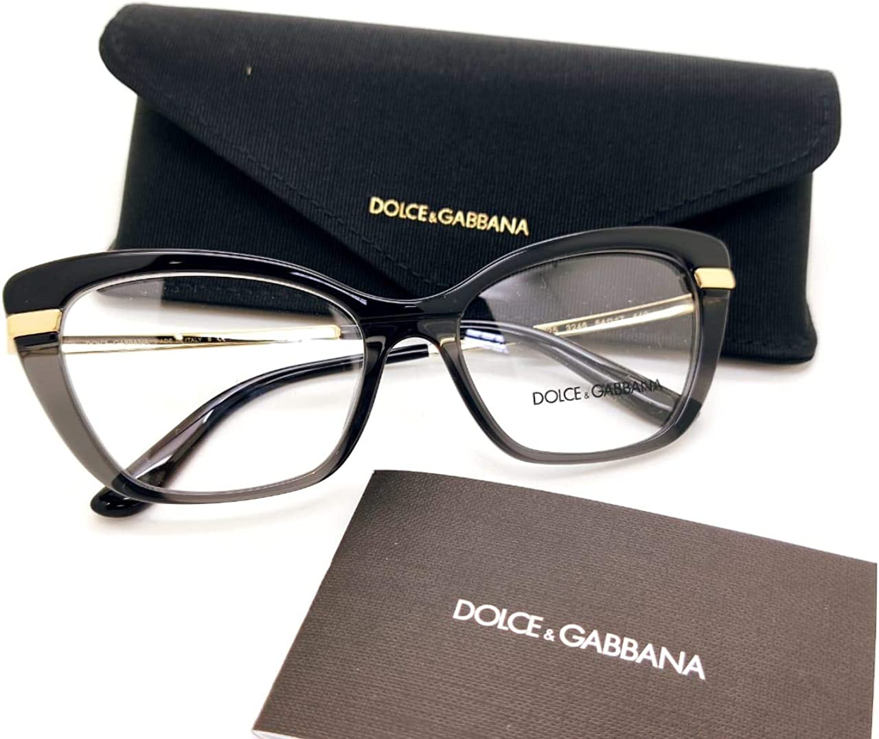 Dolce & Gabbana Gafas de Vista HALF PRINT DG 3325 BLACK 54/17/140 mujer: Amazon.es: Ropa y accesorios