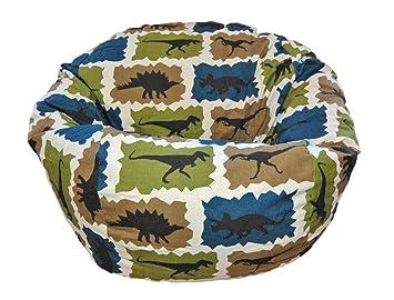 ahh products dinosaurs blue kid bean bag chair