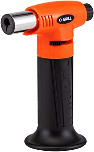 O-Grill GT-200 Butane Torch, Portable Culinary Kitchen Torch, Refillable, Adjustable Flame. Perfect for Searing Steaks, Sushi and a Range of Foods. Upgrade Your Game with This professional Tool.