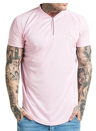 SIK SILK Baseball T-Shirt Pink XL  Amazon.co.uk  Clothing 74dce7cbd