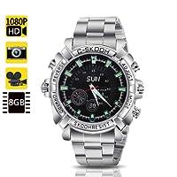 TOUGHSTY 8GB 1920x1080P Full HD Mini Spy Camera Watch Spy Gadgets with IR Night Vision Function