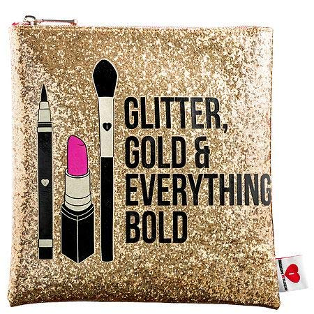 - SEPHORA COLLECTION Glitter, Gold, Everything Bold Clutch, LIMITED EDITION