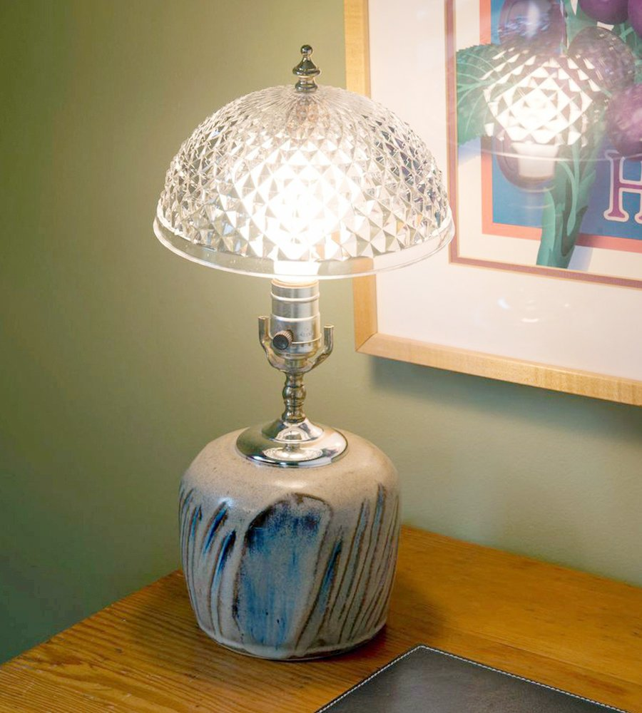 Evelots Antique Clip On Shade, Vintage Diamond Cut Acrylic Dome Light Bulb Fixture by Evelots (Image #2)