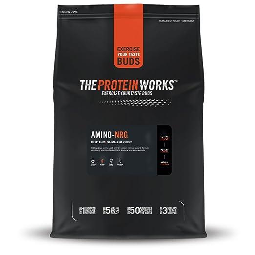 THE PROTEIN WORKS, Amino-NRG, Explosión de bayas, 250 g: Amazon.es: Salud y cuidado personal