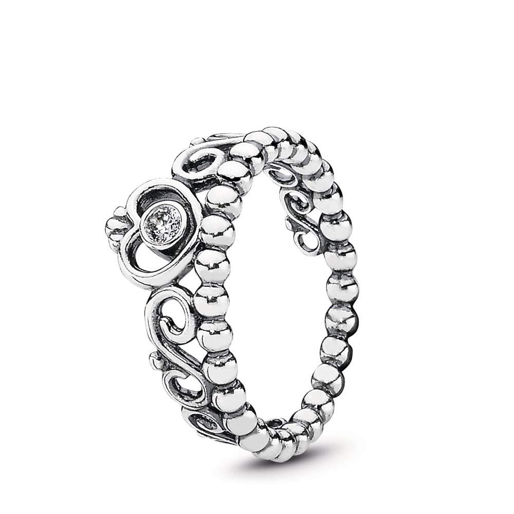 PANDORA My Princess Stackable Ring, Sterling Silver, Cubic Zirconia, Size 8.5 by PANDORA