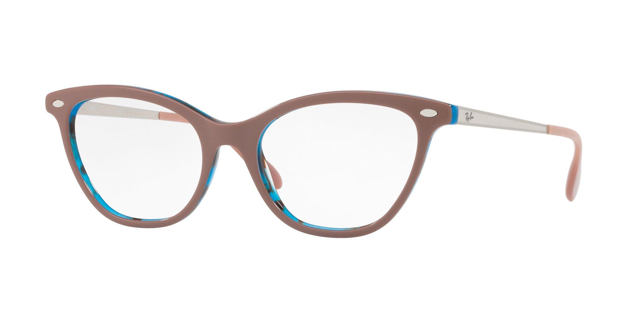 Ray-Ban Women's RX5360 Eyeglasses Top Light Brown On Havana Blue 52mm