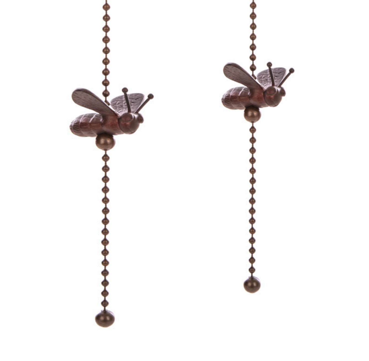 Upgradelights Pair of Oil Rubbed Bronze Bee Ceiling Fan Pulls by Upgradelights