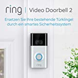 Ring Video Doorbell 2-1080p HD Video, Two-Way Talk, Motion Detection, WiFi-Connected, Satin Nickel