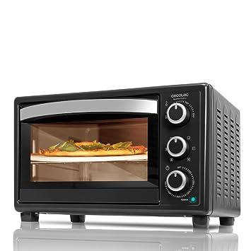 Horno de convección con piedra para pizza. Horno eléctrico multifunción de sobremesa con 26 litros