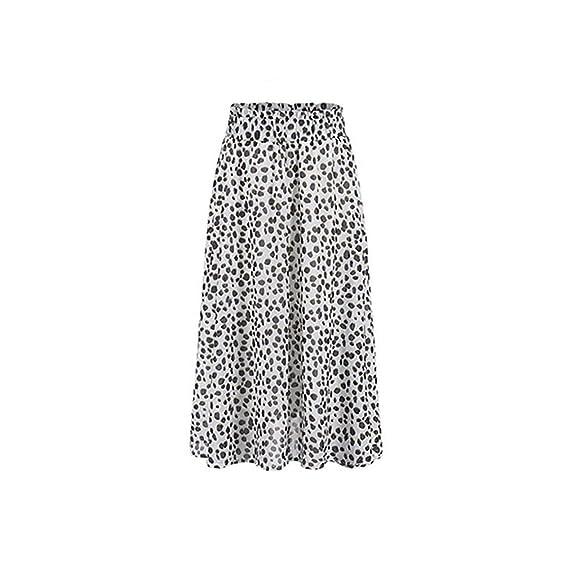 Leopardo de Las Mujeres una línea de Falda elástica de Cintura ...
