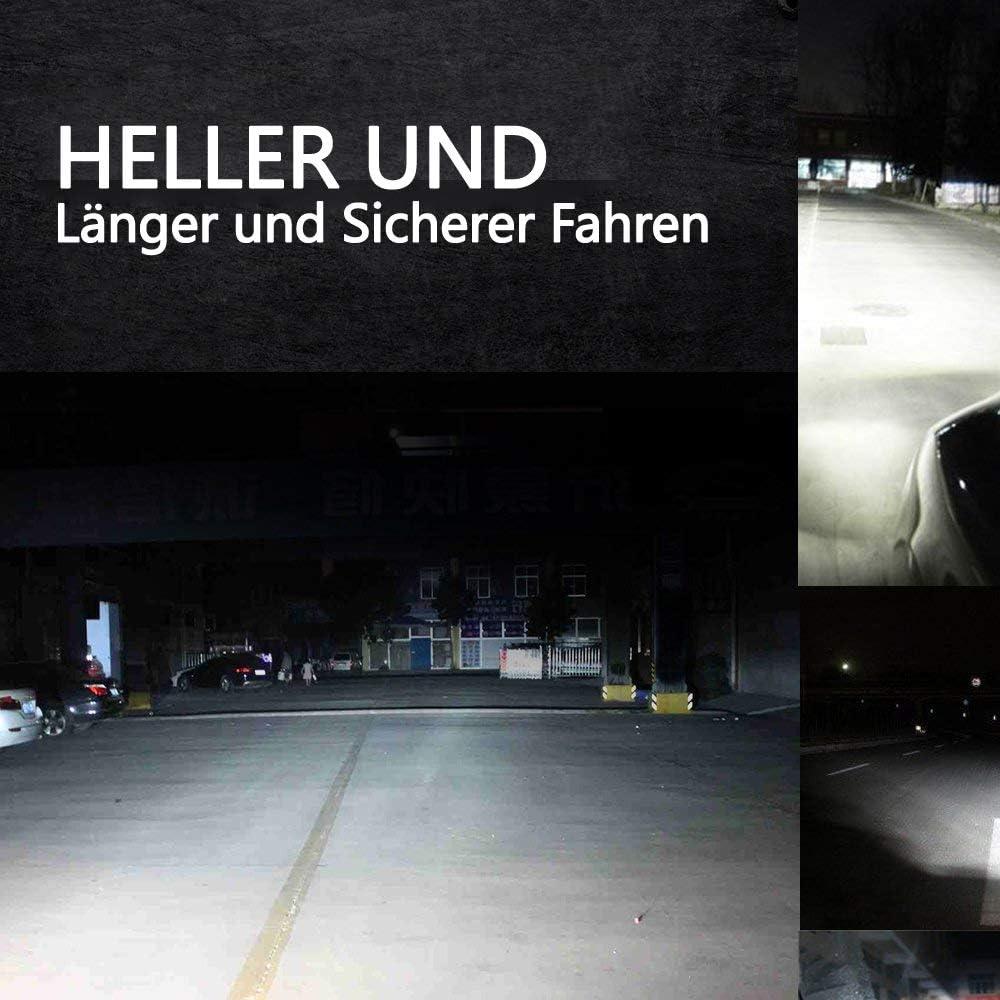 Hengda 2 piezas LED luz de trabajo 72W luz auxiliar 9200LM faro de coche proyector offroad proyector 6500K impermeable IP67 luz de trabajo 12V