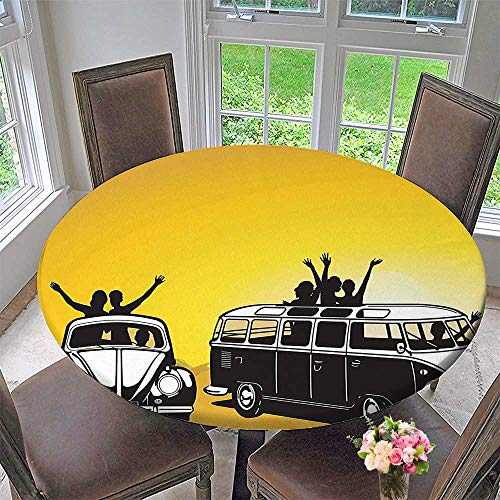 circular table cover collection traveling