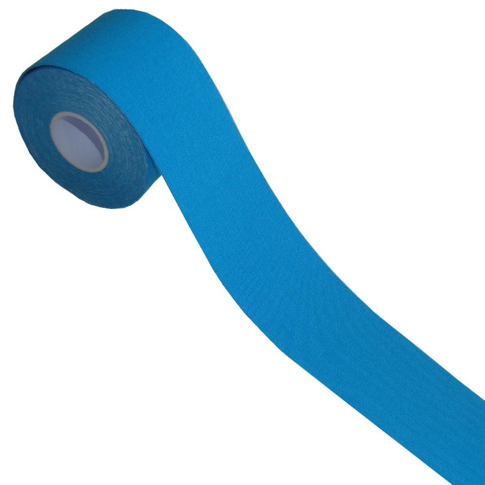 KB Support Tape - Continuous Roll (Blue) - Ideal for Supporting Plantar Fasciitis, Rotator Cuff Injuries, Tennis Elbow, Golfers Elbow, Knee Injuries & Achilles Tendonitis and much more