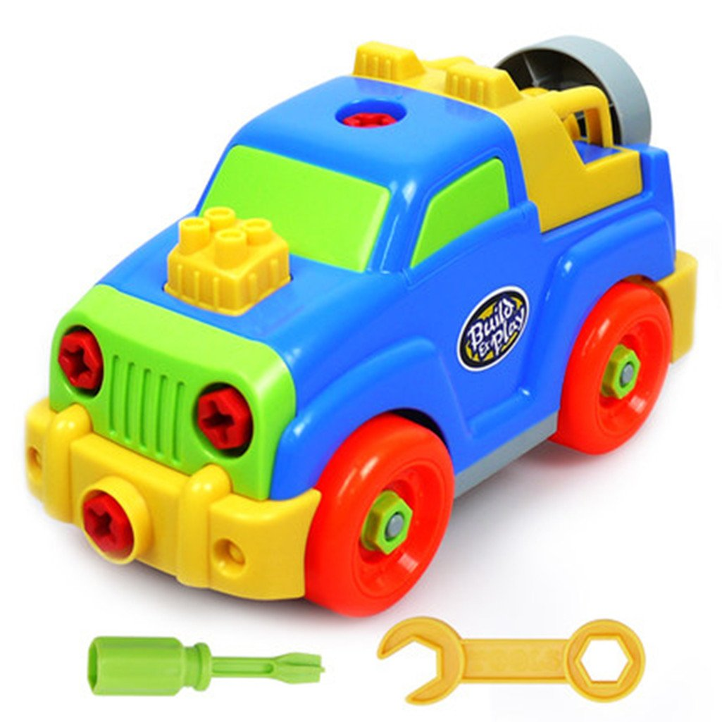 Take-apart Removable Jeep Assembly Puzzle Toy 27 Pieces Great Gift for Children Aged 3 to 8 Years Old (Jeep) HUI DA XIN XING Toys Factory