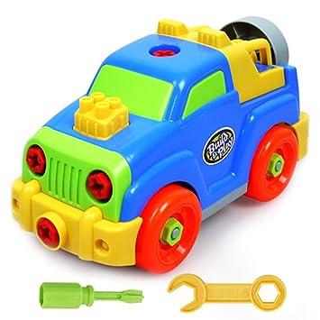 desmontar y ensamblar coches con la herramienta juguete tornillo de construccin para nios de aos