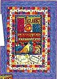 Laurel Land Baby Quilt Kit Laurel Burch Clothworks 46.5'' x 64.5'' Cotton Fabric