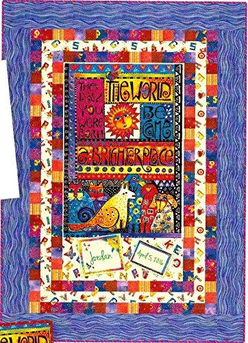 Laurel Land Baby Quilt Kit Laurel Burch Clothworks 46.5'' x 64.5'' Cotton Fabric by Clothworks
