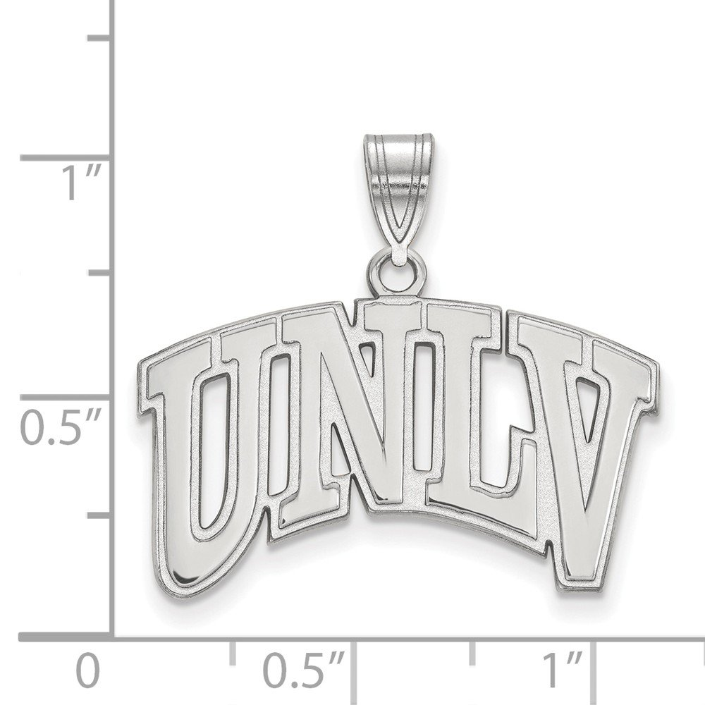 10k White Gold University Nevada Las Vegas Rebels School Letters Logo Pendant