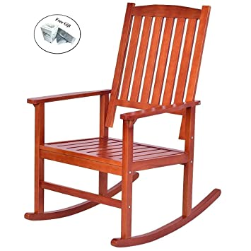 Eight24hours 2 piezas de madera de pino salón balancín silla ...
