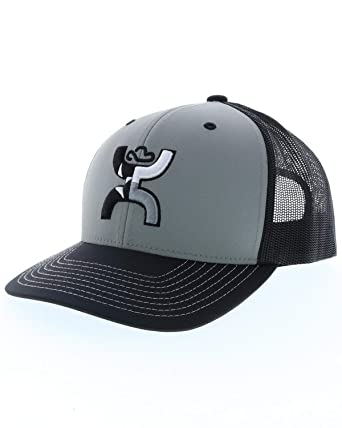check out ea311 9b2d8 HOOey Texican Adjustable Snapback Hat (Gray Black)