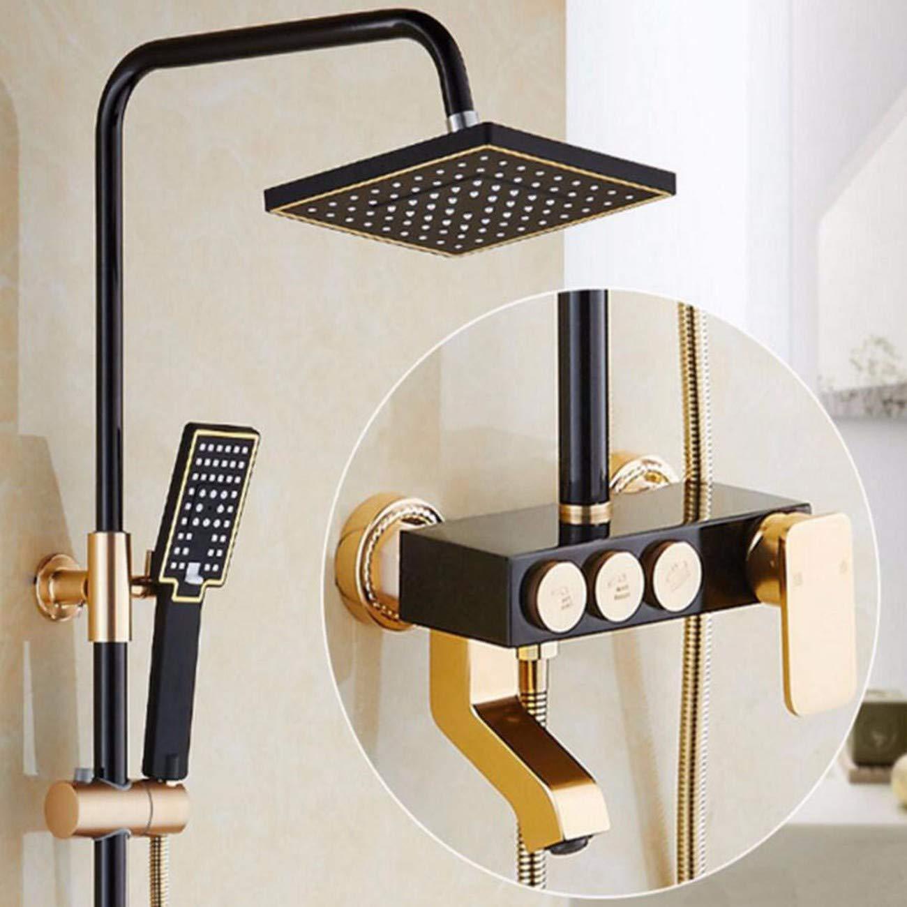 Duschset Weltraum - Aluminium - Dusche Konstanter Temperatur Sprinkler Mischen Ventil Offenen Duschen Duschen Duschen Setzen,H