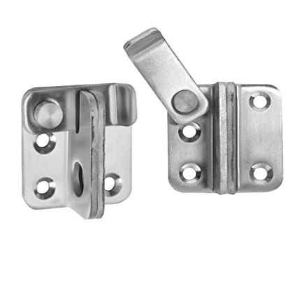 COOLOGIN Slide Safety Gate Latches Door Lock2 Pcs Stainless Steel Sturdy Padlockable Bolt Latch  sc 1 st  Amazon.com & Amazon.com: COOLOGIN Slide Safety Gate Latches Door Lock2 Pcs ...