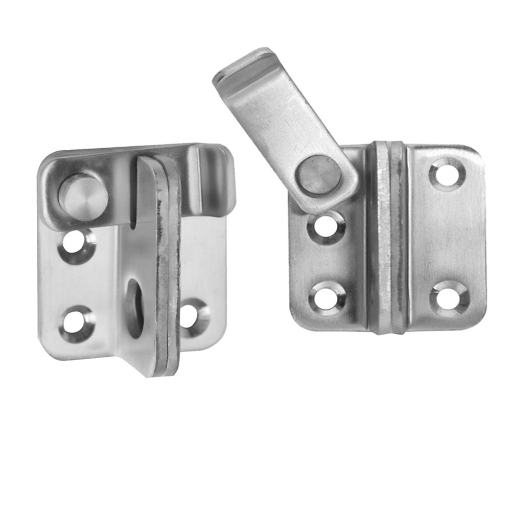 COOLOGIN Slide Safety Gate Latches Door Lock,2 Pcs Stainless Steel Sturdy Padlockable Bolt Latch/Lock for Pet Gate,Cabinet Furniture, Wardrobe, Window