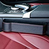 Car Storage Car Console Side Organizer Pocket Multifunction Universal Leather Black for All Kinds of Cars