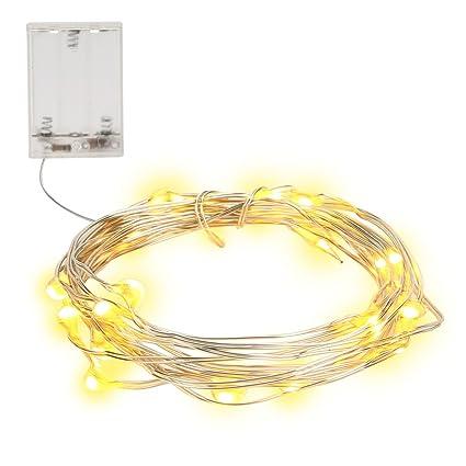 61c2e3731db NONMON Cadena de Luces Alambre de Cobre 2m 20 LED