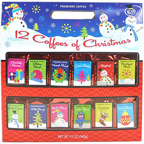 Debut Brand Coffees of Christmas Gift Set, 12 Flavors