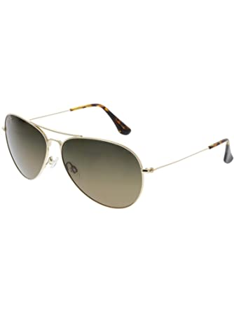 258bfc835614 Maui Jim Mavericks Sun Glasses with Gold Metal Frame & Bronze Maui  Evolution Lenses: Amazon.co.uk: Clothing