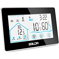 Indoor Outdoor Thermometer Digital Wireless Hygrometer Weather Station Wireless Temperature and Humidity Monitor with Current Time Backlight and Outdoor Sensor