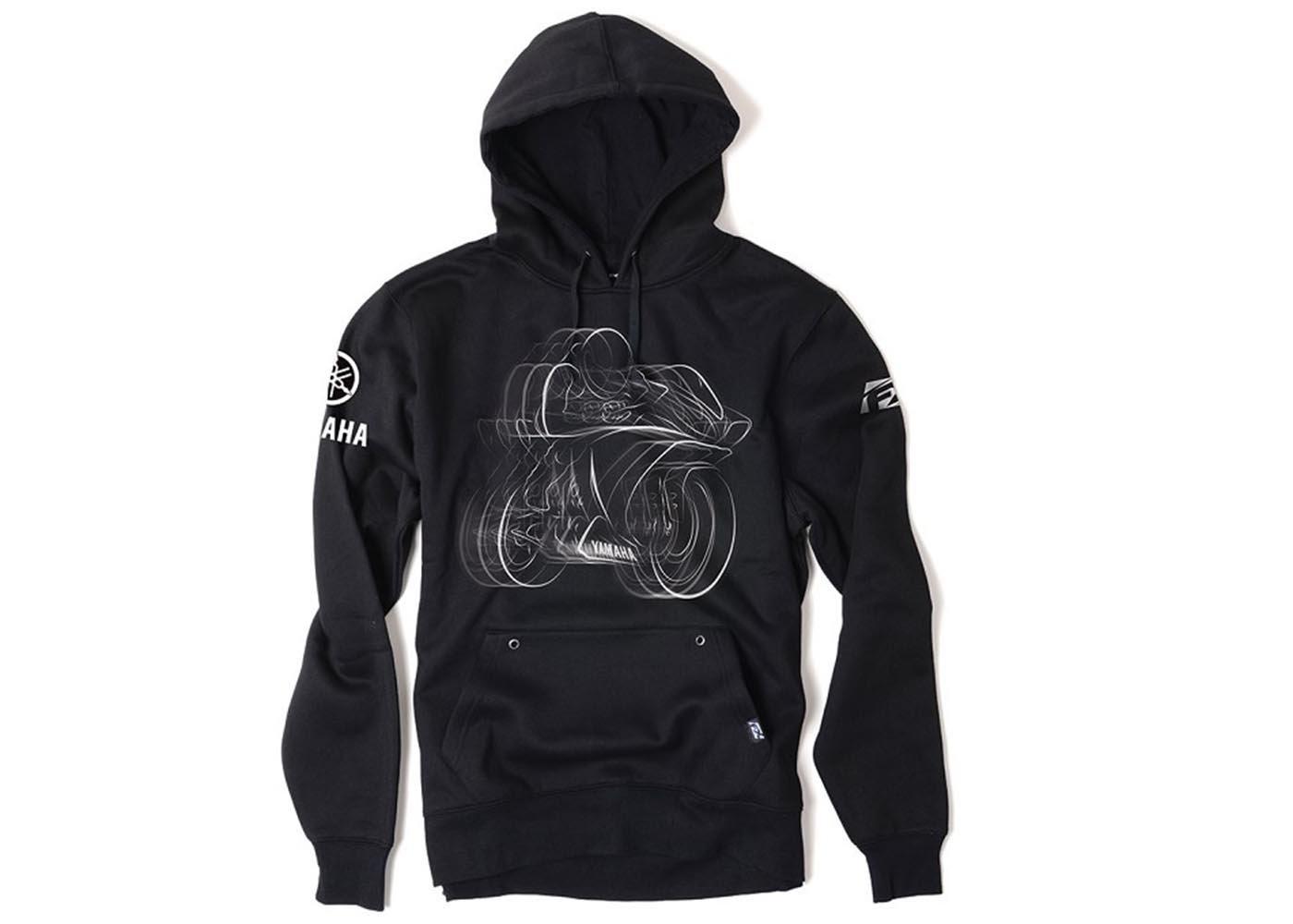Black, XX-Large Factory Effex 16-88228 YAMAHA R1 Pullover Sweatshirt