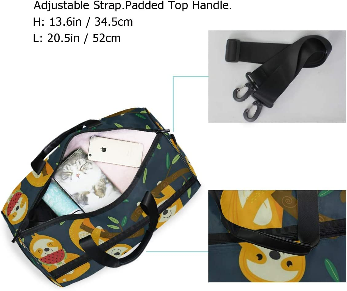 Baby Sloth Tree Gym Bags for Men/&Women Duffel Bag Casual Fashion Bag with Shoe Compartment