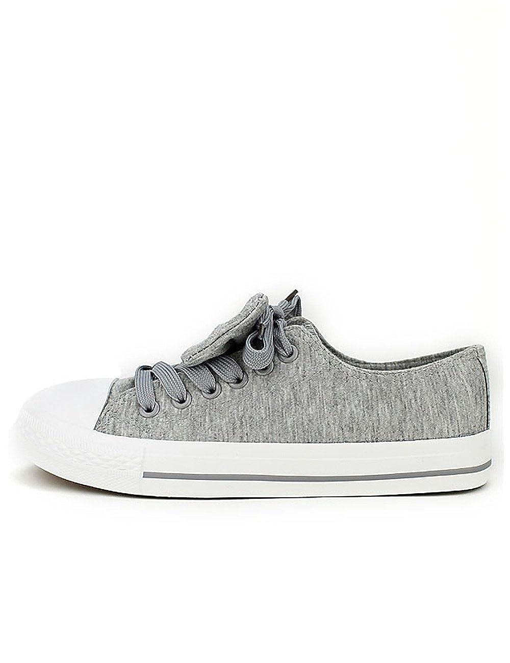 Cendriyon, Baskets Grises Baskets Coton Gris BELLOS avec Noeud Chaussures Chaussures Femme Gris 51d7986 - boatplans.space
