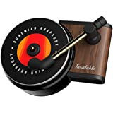 Car Fragrance Diffuser with Vent Clip in Retro Style Record-Player Design