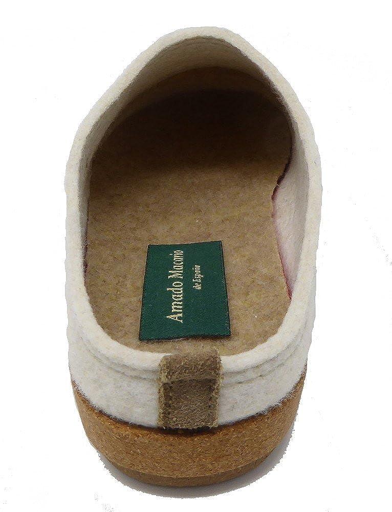 Amado Macario Zapatillas de Estar por casa de Tela para Mujer