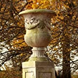 OrlandiStatuary FS7870 Giardino Urn Sculpture, 24'', White Moss Finish