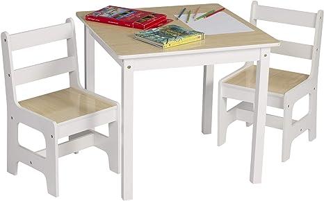 eSituro Tavolino e sedie per Bambini Tavolo da Gioco in Legno Mobili Bambini SCTS0005